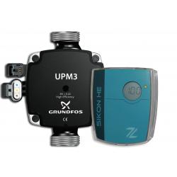 SIKON HE und Grundfos UPM3 HE Pumpe DN25-130 - Set